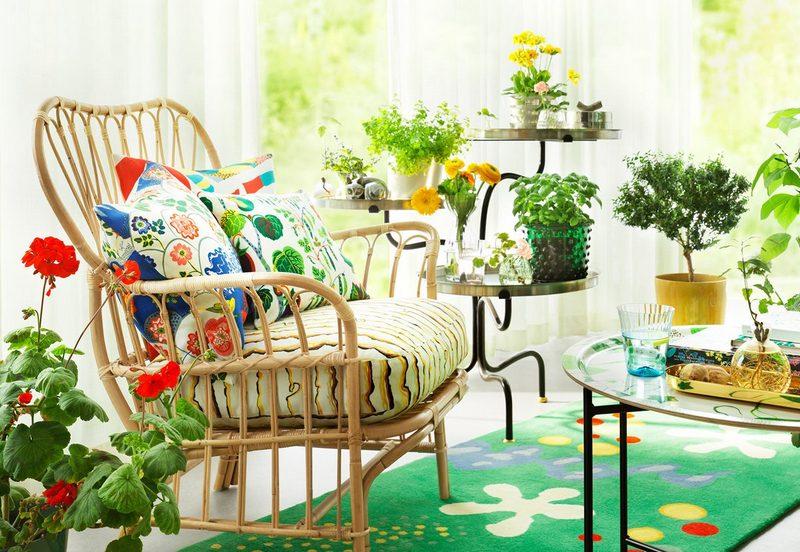 Ogrodowa aranżacja w domu; Svenskt Tenn