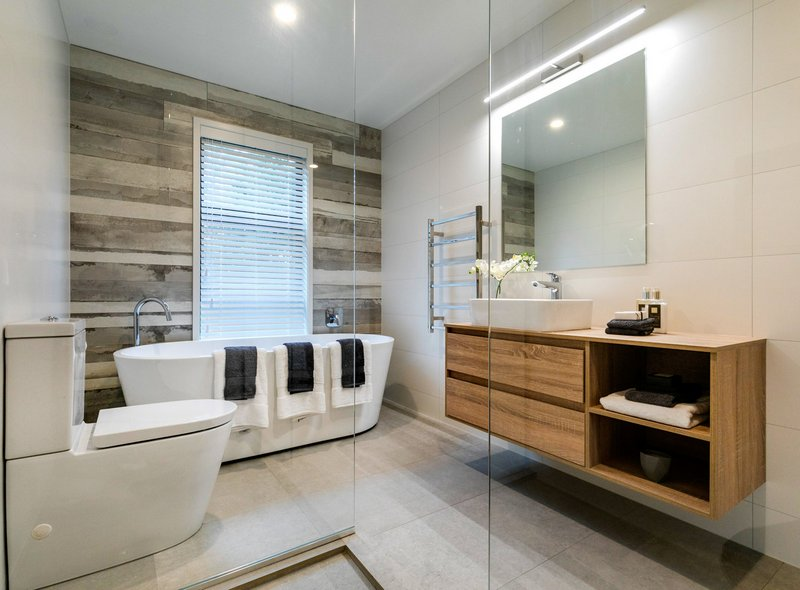 Nowoczesna łazienka, CADman Architectural Design Ltd
