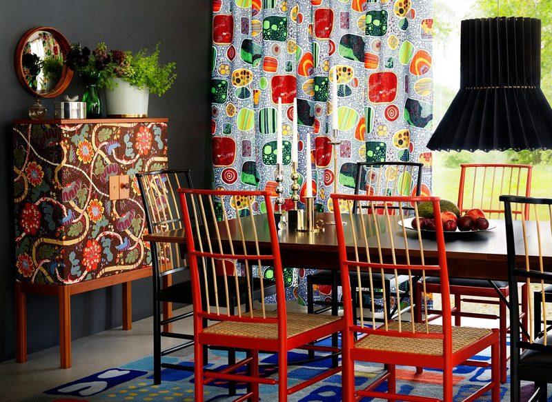 Kolorowe wnętrza – meble Svenskt Tenn