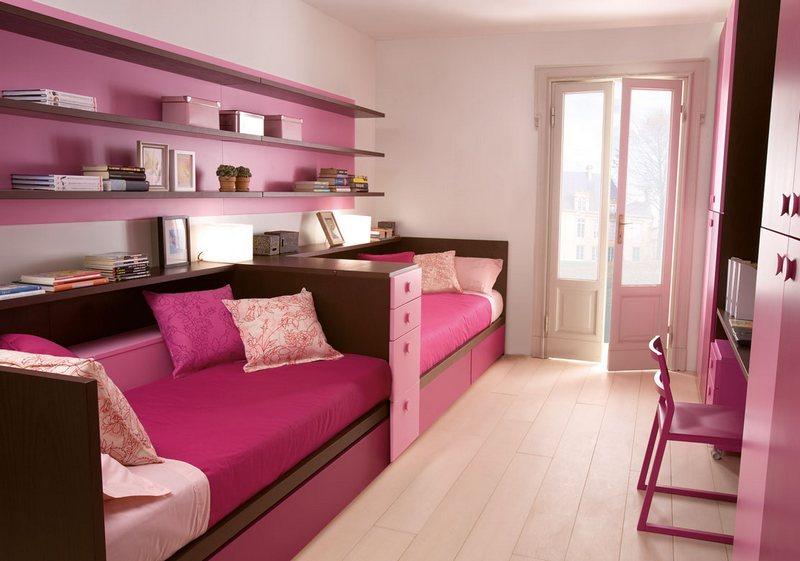Różowy pokój dla sióstr Dearkids