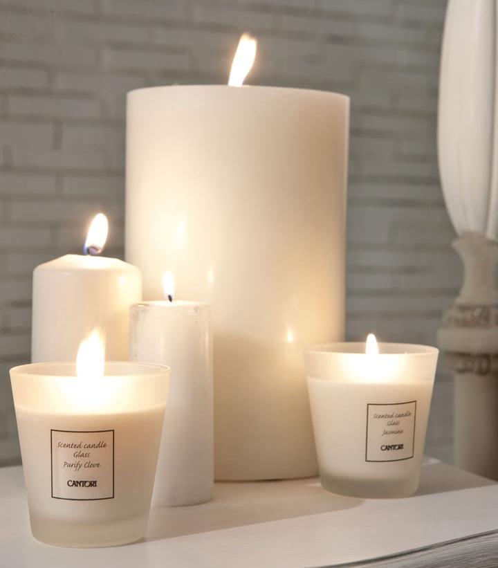 Zestaw białych świec Cantori