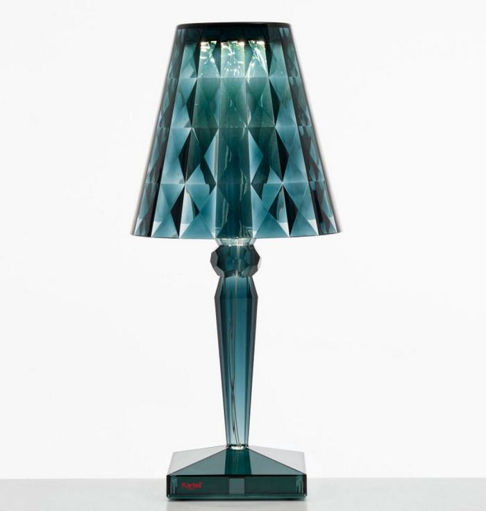 Niebieska transparentna lampa Lightology