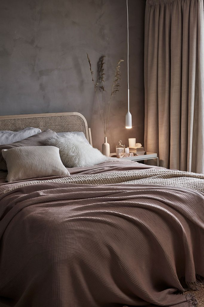 Beżowa sypialnia John Lewis