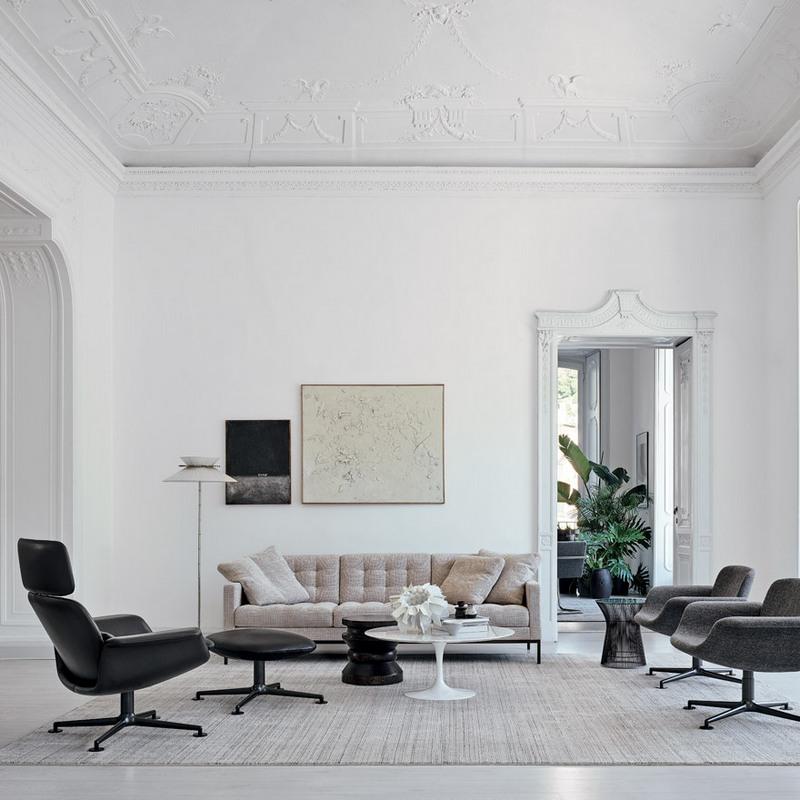 Nowoczesny salon Knoll