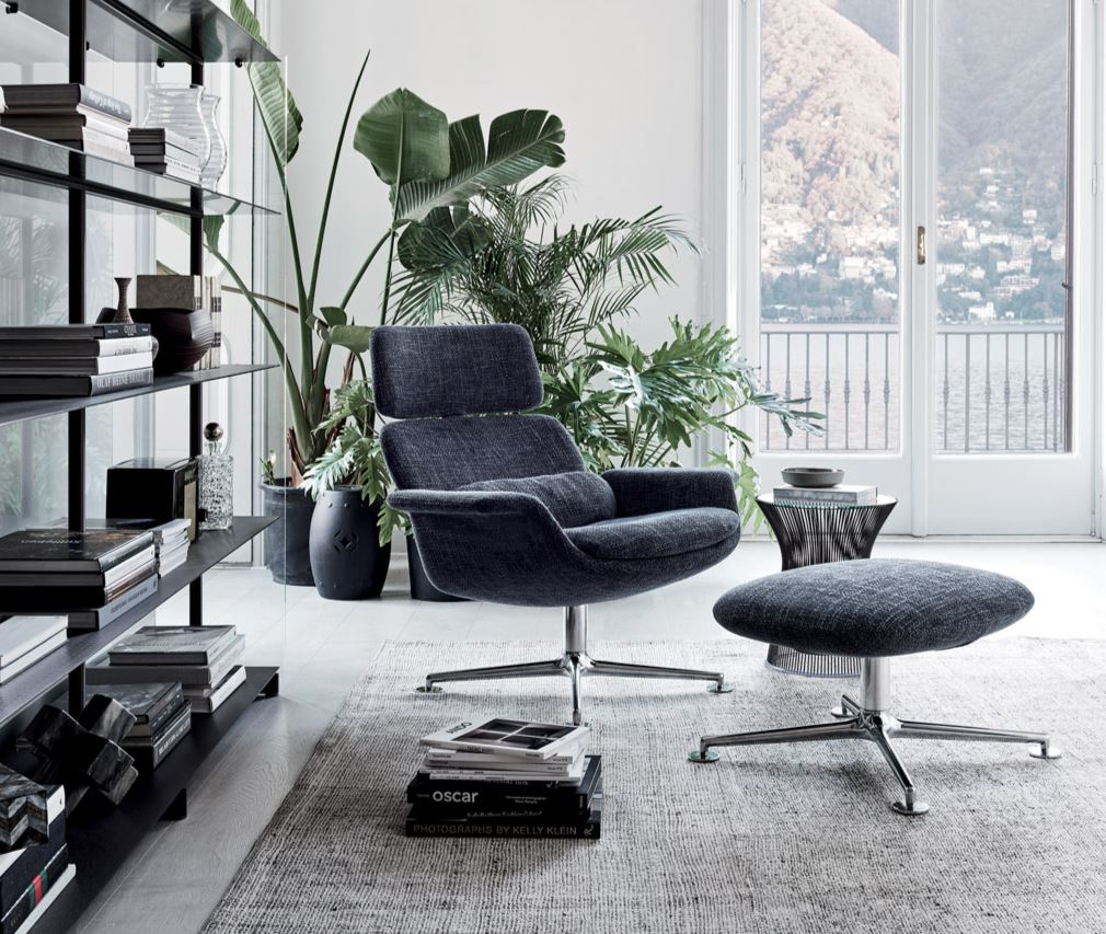 Komfortowy salon – fotel do lektury Knoll