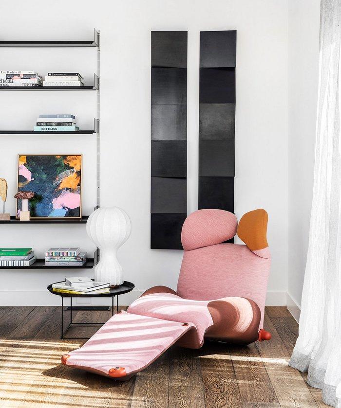 Designerski długi fotel; https://www.chelseahing.com.au/