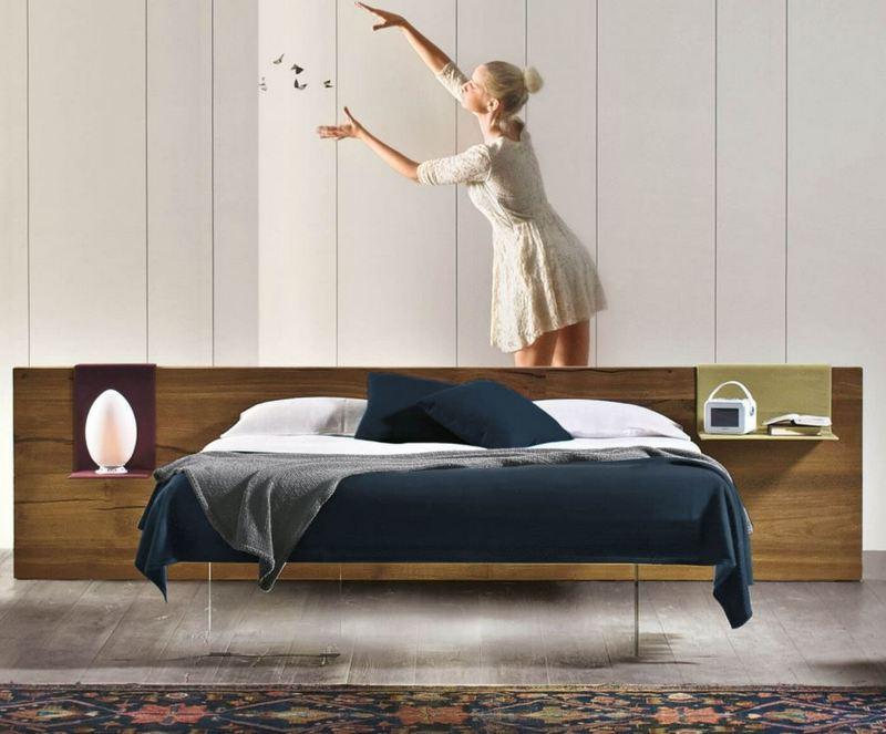 Nowoczesne drewniane łóżko Lago
