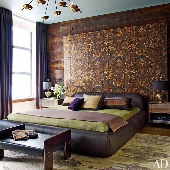 Prestiżowa sypialnia; Architectural Digest