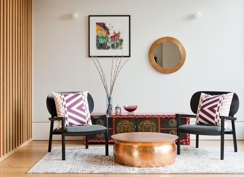 Eklektyczny salon; http://www.2lgstudio.com/
