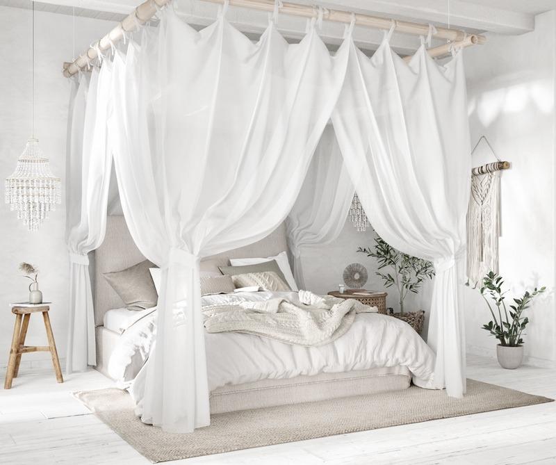 Sypialnia w stylu etnicznym; Lilia Mukhamedshina / http://www.home-designing.com/