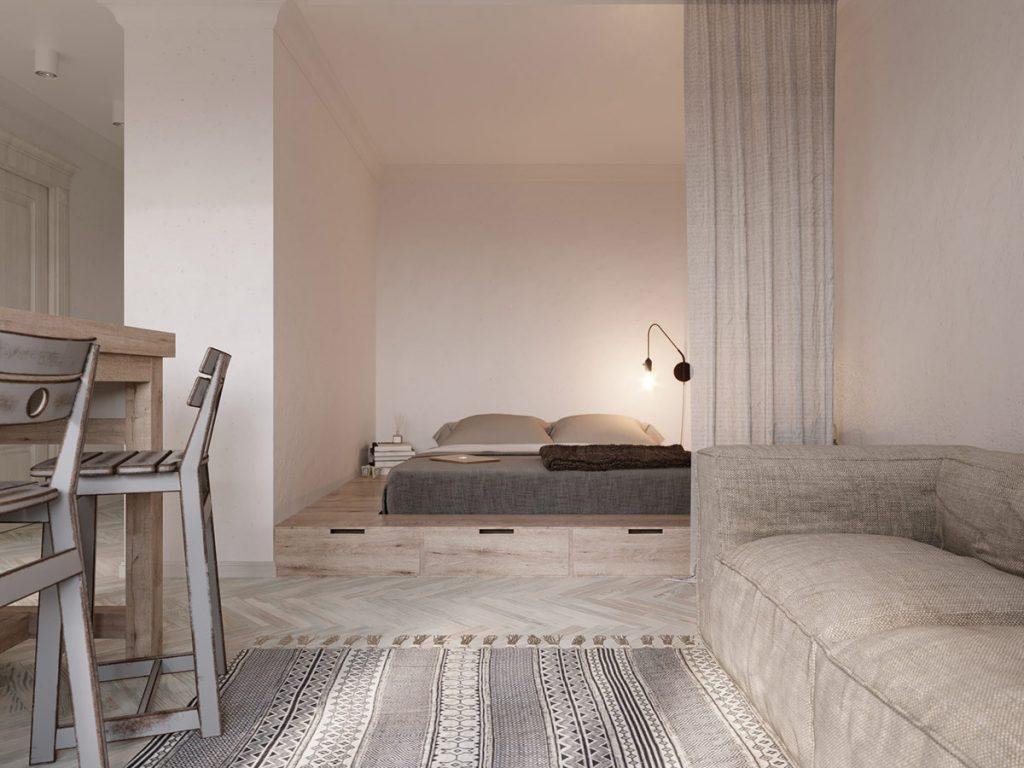 Minimalistyczne mieszkanie w stylu etnicznym; Alina Litva / http://www.home-designing.com/