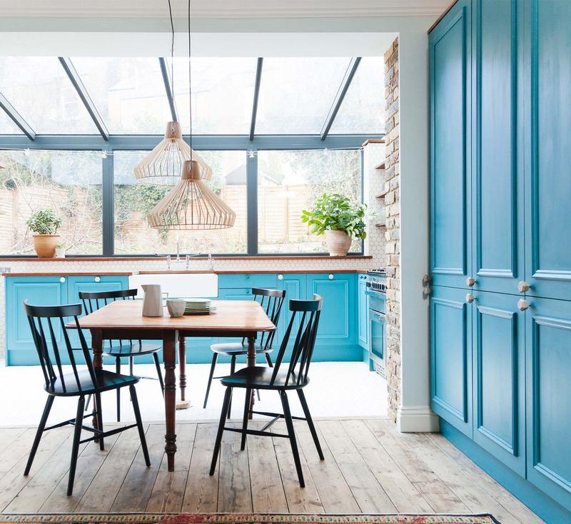 Nietypowe kolory kuchni: błękit; http://www.2lgstudio.com/