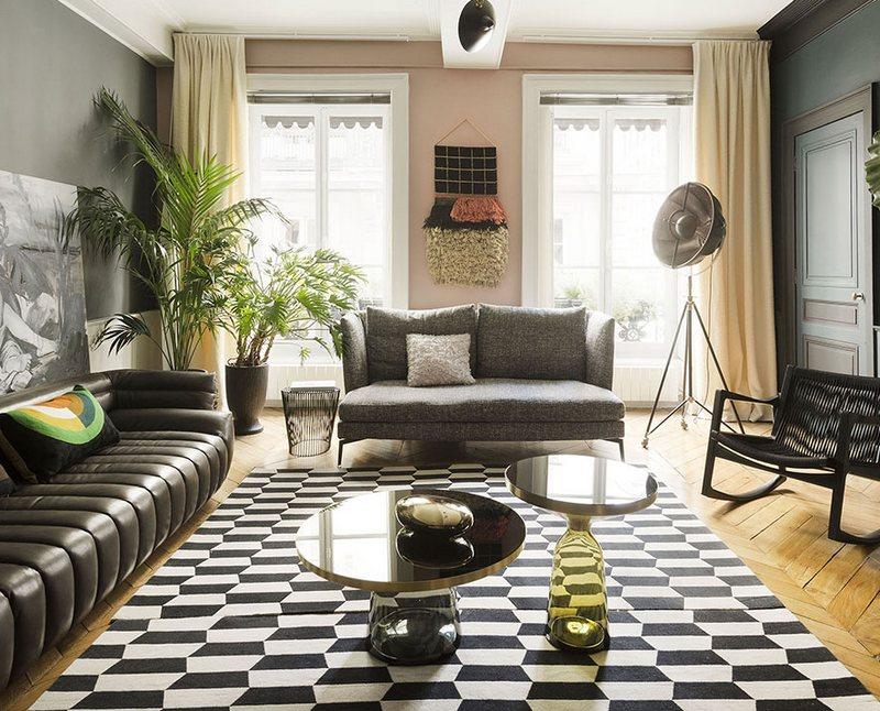 Czarno-biały dywan; ww.claude-cartier.com